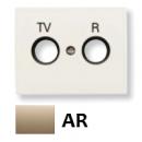 8450 AR NIE Olas Песочный Накладка розетки TV-R розетки
