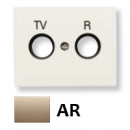 8450.1 AR NIE Olas Песочный Накладка розетки TV-R/Sat розетки