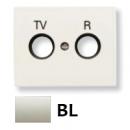 8450 BL NIE Olas Белый Накладка розетки TV-R розетки