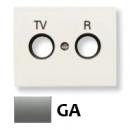 8450 GA NIE Olas Серый гранит Накладка розетки TV-R розетки