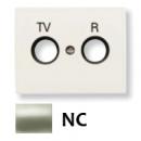 8450 NC NIE Olas Никель Накладка розетки TV-R розетки