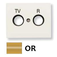 8450 OR NIE Olas Золото Накладка розетки TV-R розетки