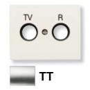 8450 TT NIE Olas Титан Накладка розетки TV-R розетки