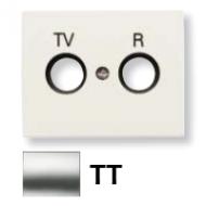 8450.1 TT (8450_1 TT) NIE Olas Титан Накладка розетки TV-R/SAT розетки