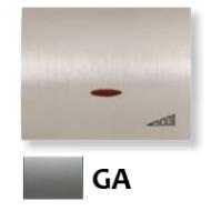 8460.1 GA NIE Olas Серый гранит Накладка светорегулятора нажимного
