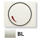 8460.2 BL NIE Olas Белый Накладка светорегулятора поворотного
