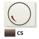 8460.2 CS (8460_2 CS) NIE Olas Атласная медь Накладка светорегулятора поворотного