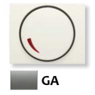 8460.2 GA NIE Olas Серый гранит Накладка светорегулятора поворотного