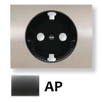 8488 AP NIE Olas Перламутровый металлик Накладка розетки с/з