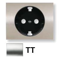 8488 TT NIE Olas Титан Накладка розетки с/з