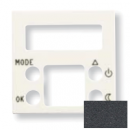 N2240.5 AN NIE Zenit Антрацит Накладка электронного термостата 8140.5, 2 мод