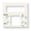 N2240.5 BL NIE Zenit Бел Накладка электронного термостата 8140.5, 2 мод