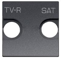N2250.1 AN NIE Zenit Антрацит Накладка для TV-R/SAT розетки, 2 мод