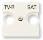 N2250.1 BL NIE Zenit Бел Накладка для TV-R/SAT розетки, 2 мод