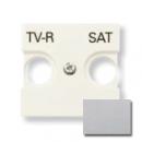 N2250.1 PL NIE Zenit Серебро Накладка для TV-R/SAT розетки, 2 мод