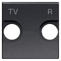 N2250.8 AN NIE Zenit Антрацит Накладка для TV-R розетки, 2 мод