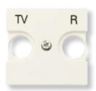 N2250.8 BL NIE Zenit Бел Накладка для TV-R розетки, 2 мод