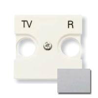 N2250.8 PL NIE Zenit Серебро Накладка для TV-R розетки, 2 мод