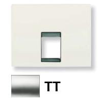 8417.1 TT (8417_1 TT) NIE Olas Титан Накладка розетки ТЛФ/комп (RJ45) 1-ая