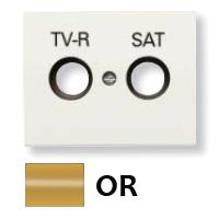 8450.1 OR NIE Olas Золото Накладка розетки TV-R/Sat розетки