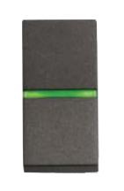 N2102.5 AN NIE Zenit Антрацит Переключатель 1-клавишный с индикацией 1 мод