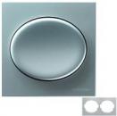 5572.1 PL (5572_1 PL) NIE Tacto Серебро Рамка 2-ая гориз