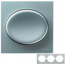 5573.1 PL (5573_1 PL) NIE Tacto Серебро Рамка 3-ая гориз