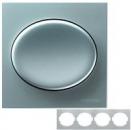 5574.1 PL (5574_1 PL) NIE Tacto Серебро Рамка 4-ая гориз