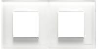 N2272 CB NIE Zenit Стекло белое Рамка 2-я 2+2 мод