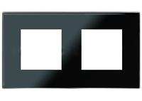 N2272 CN NIE Zenit Стекло черное Рамка 2-я 2+2 мод