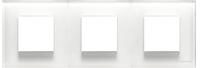 N2273 CB NIE Zenit Стекло белое Рамка 3-я 2+2+2 мод
