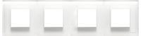 N2274 CB NIE Zenit Стекло белое Рамка 4-я 2+2+2+2 мод