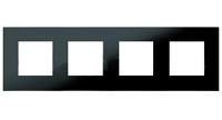 N2274 CN NIE Zenit Стекло черное Рамка 4-я 2+2+2+2 мод