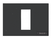N2471 AN NIE Zenit Антрацит Рамка итальянский стандарт на 1 модуль