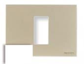 N2471 BL NIE Zenit Бел Рамка итальянский стандарт на 1 модуль