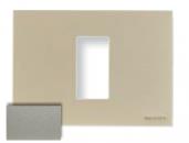 N2471 CV NIE Zenit Шампань Рамка итальянский стандарт на 1 модуль