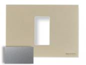N2471 PL NIE Zenit Серебро Рамка итальянский стандарт на 1 модуль