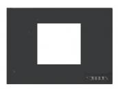 N2472 AN NIE Zenit Антрацит Рамка итальянский стандарт на 2 модуля