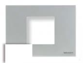 N2472 BL NIE Zenit Бел Рамка итальянский стандарт на 2 модуля
