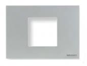 N2472 PL NIE Zenit Серебро Рамка итальянский стандарт на 2 модуля