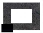 N2473 CN NIE Zenit Стекло черное Рамка итальянский стандарт на 3 модуля