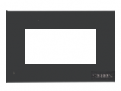N2474 AN NIE Zenit Антрацит Рамка итальянский стандарт на 4 модуля