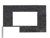 N2474 BL NIE Zenit Бел Рамка итальянский стандарт на 4 модуля