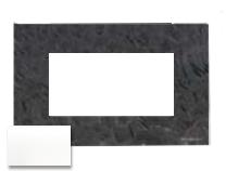 N2474 CB NIE Zenit Стекло белое Рамка итальянский стандарт на 4 модуля