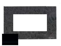 N2474 CN NIE Zenit Стекло черное Рамка итальянский стандарт на 4 модуля