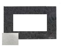 N2474 OX NIE Zenit Сталь Рамка итальянский стандарт на 4 модуля