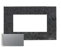 N2474 PL NIE Zenit Серебро Рамка итальянский стандарт на 4 модуля