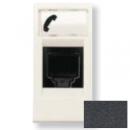 N2117.6 AN NIE Zenit Антрацит Розетка телефонная на 6 контактов, RJ12, 1 мод
