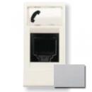 N2117.6 PL NIE Zenit Серебро Розетка телефонная на 6 контактов, RJ12, 1 мод
