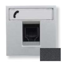 N2217.6 AN NIE Zenit Антрацит Розетка телефонная на 6 контактов, RJ12, 2 мод